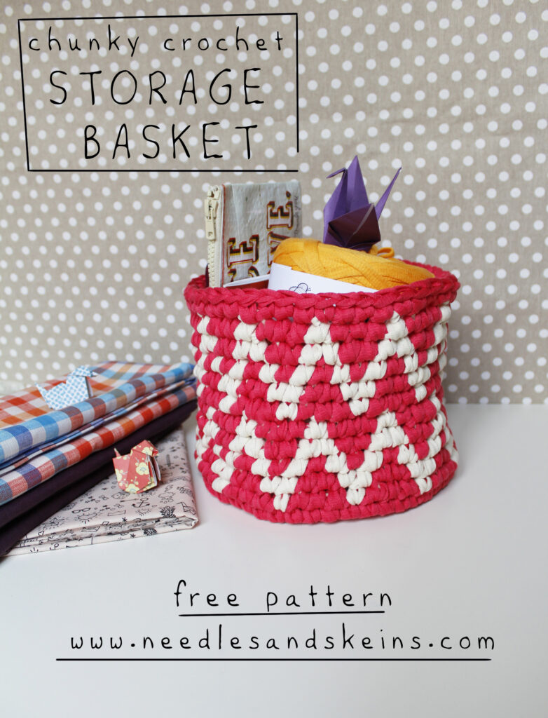 chunky crochet storage basket