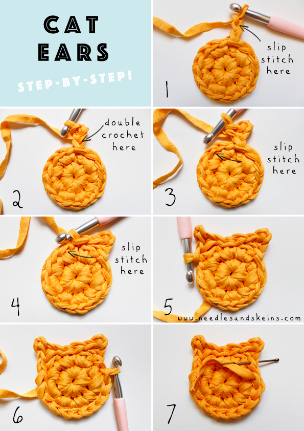 cat ears step by step