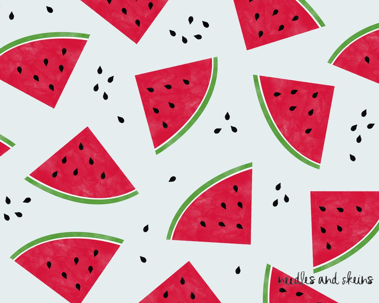 watermelon for smartphone light blue