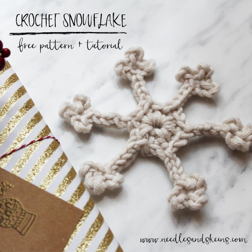 crochet snowflake anteprima