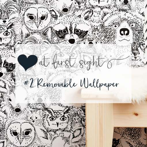 Love at first sight: removable wallpaper