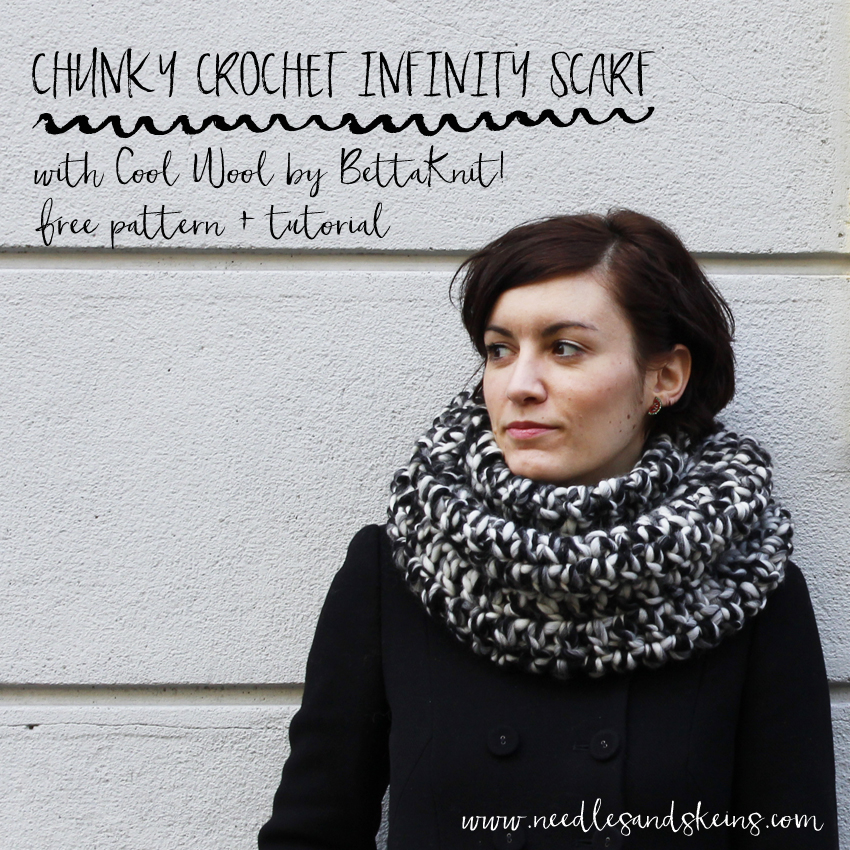 chunky crochet infinity scarf free pattern + tutorial