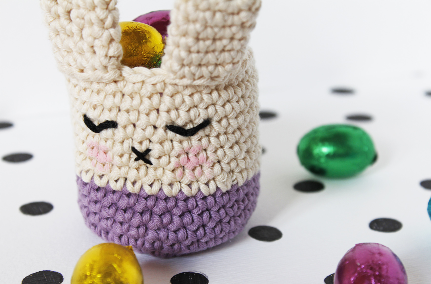 easter bunny candle holder tutorial and free pattern