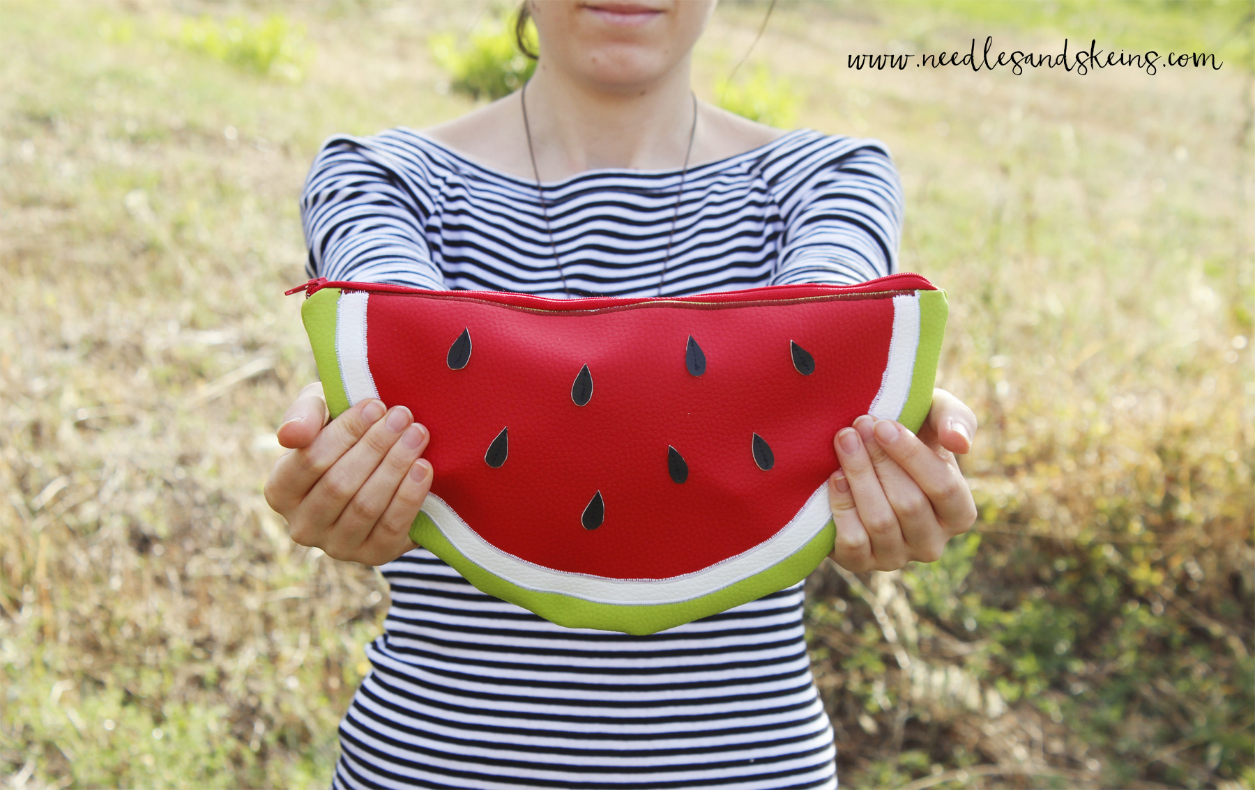 diy watermelon clutch