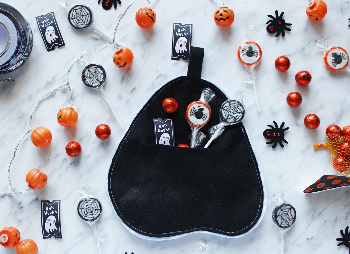 halloween ghost treat bag free pattern and tutorial