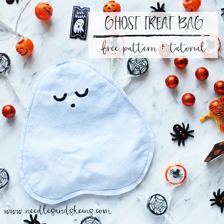 diy ghost halloween treat bag