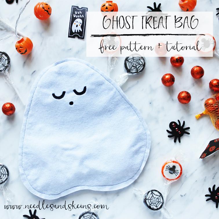 diy ghost halloween treat bag