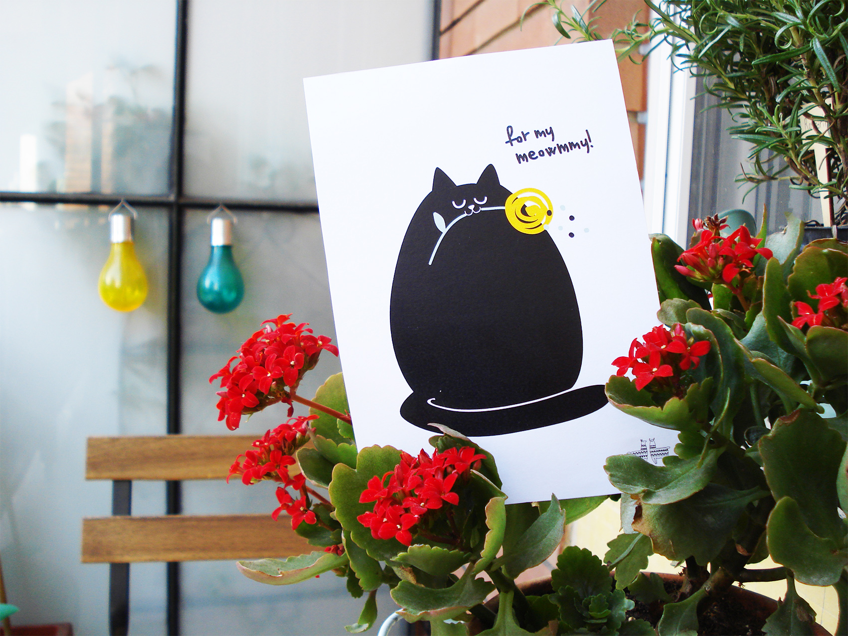 mother's day cat card