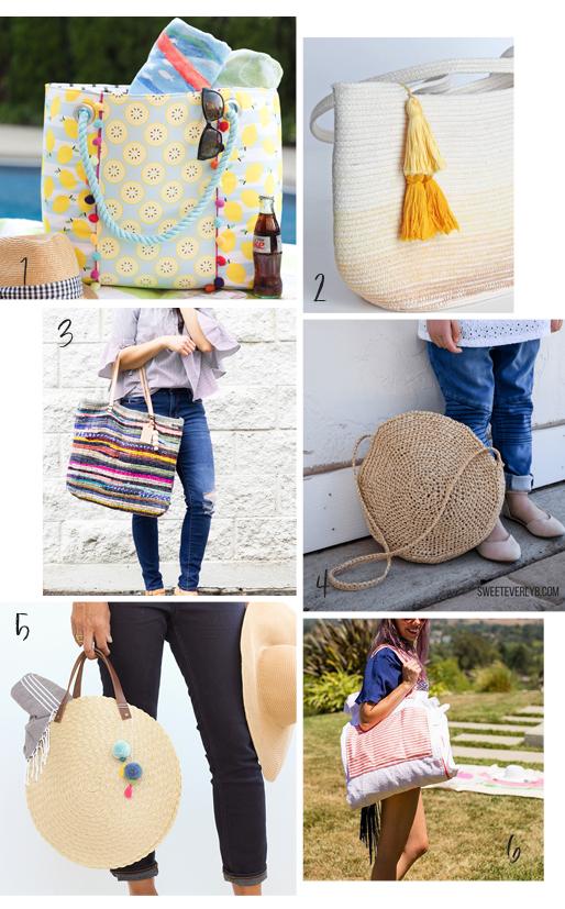 DIY roundup beach bags